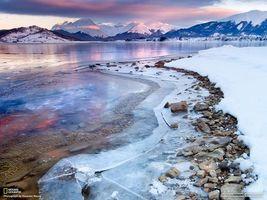 Бесплатные фото лед,снег,national geographic,море,горы,камни,небо