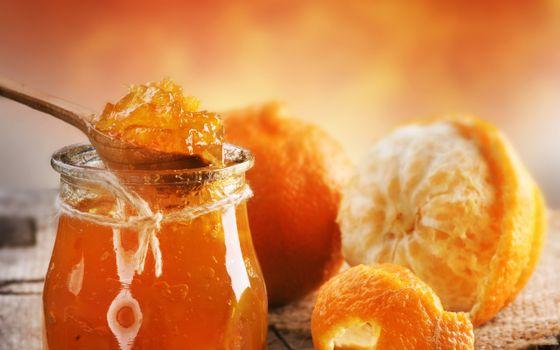 Photo free jar, spoon, jam