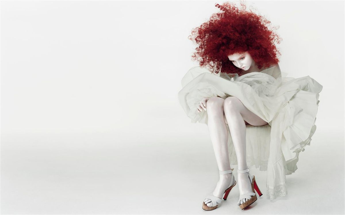 Фото бесплатно девушка, рыжая, волосы - на рабочий стол