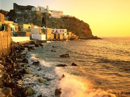 Заставки дома, небольшие, море, вода, песок, камни, город