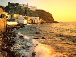 Фото бесплатно дома, небольшие, море