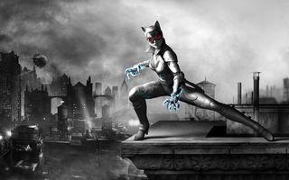 Фото бесплатно женщина-кошка, костюм, когти