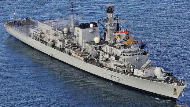 Photo free flag, anchor, gun