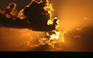 Бесплатные фото небо,облака,закат,лето,море,тепло,горизонт