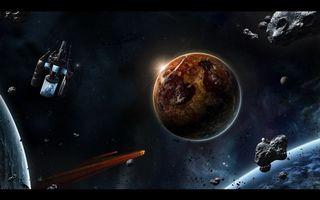Бесплатные фото планета,земля,метеорит,камни,осколки,спутники,свет