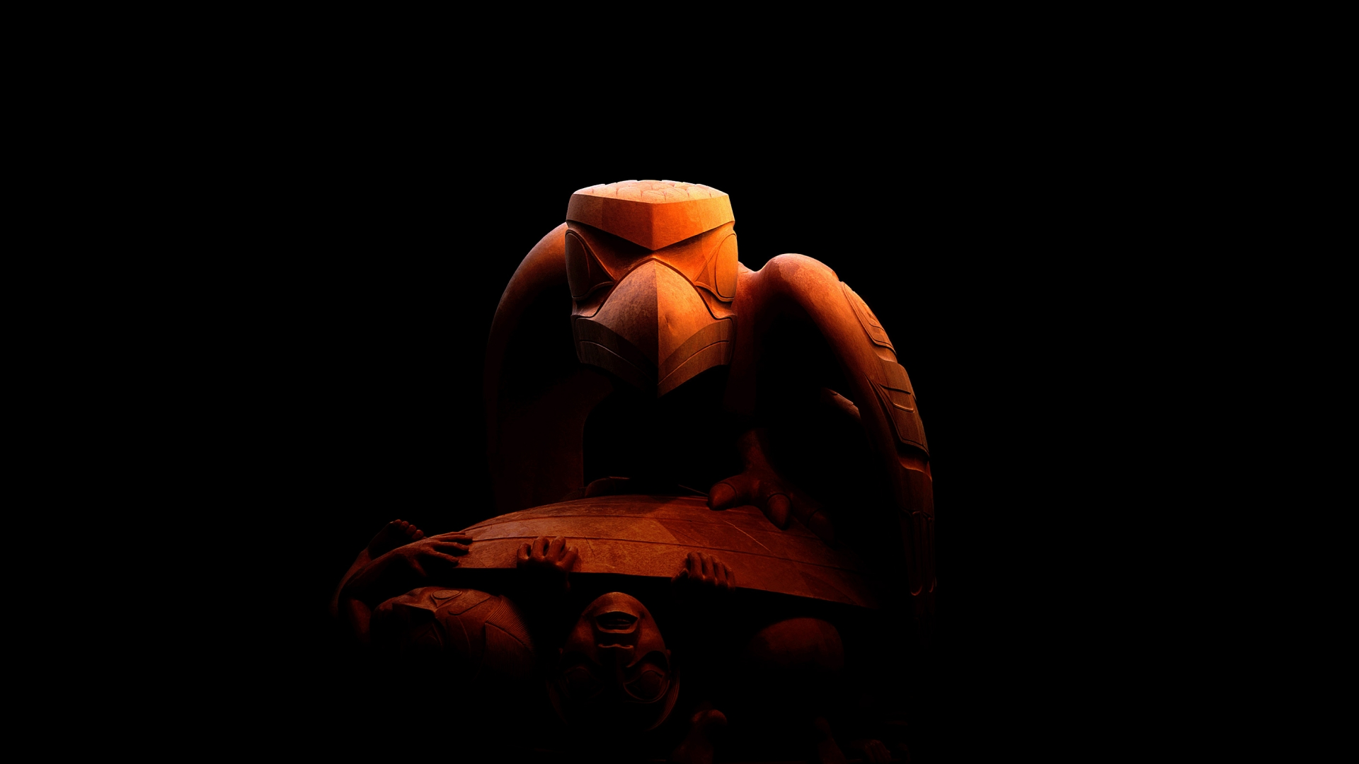 скульптура, птица, камень