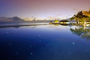 Фото бесплатно бассейн, вечер, море