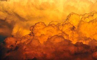 Фото бесплатно тучи, облака, огонь, желтый, оранжевый, цвет, воздух, природа