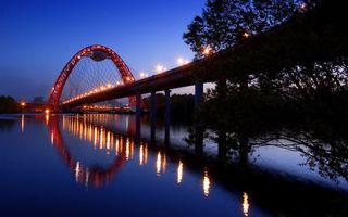 Бесплатные фото вода,опоры,подсветка,освещение,город,вечер