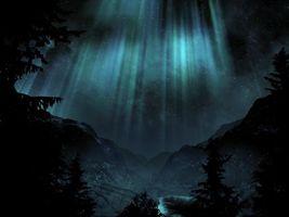 Бесплатные фото северное,сиянье,горы,снег,ель,сосна,озеро