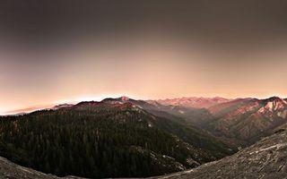Бесплатные фото горы,вечер,закат,высоко,елки,деревья,лед