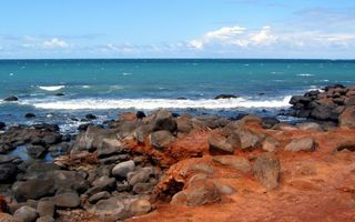 Бесплатные фото берег,камни,песок,море,волны,горизонт,небо