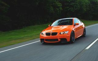 Фото бесплатно bmw, оранжевый, дорога