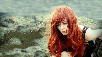 Фото бесплатно девушка, рыжая, длинные