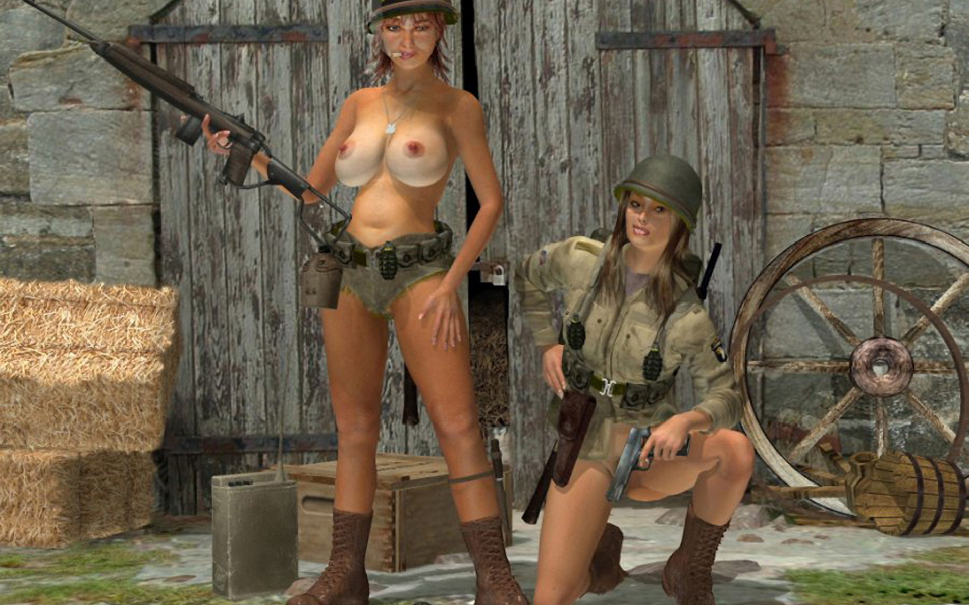 war-nude-girl