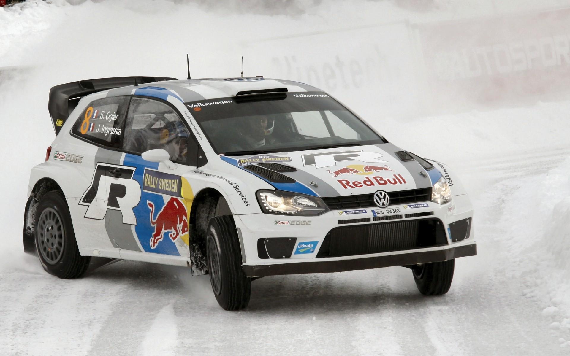 Обои Volkswagen Golf, tuning, rally, snow, track, race, body kit