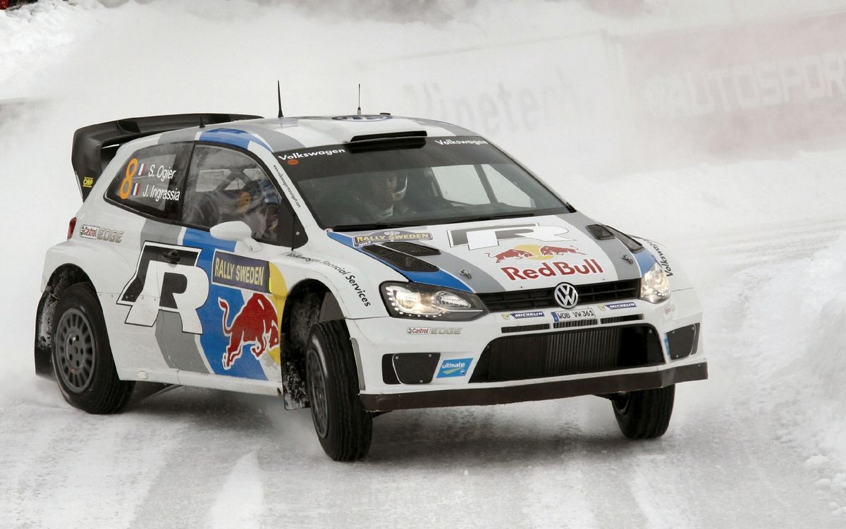 Free photo Volkswagen Golf, tuning, rally, snow, track, race