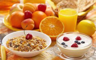 Бесплатные фото фрукты,ягода,хлопья,сок,тарелка,сливки,еда