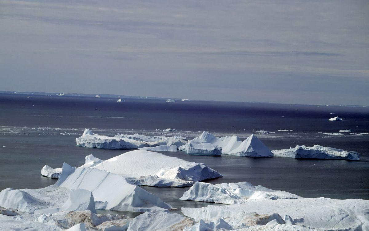 Фото бесплатно море, океан, льдины - на рабочий стол