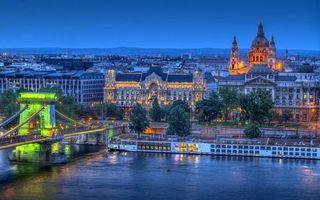 Бесплатные фото мост, река, дома, улицы, фонари, свет, город