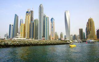 Фото бесплатно небоскребы, берег, камни