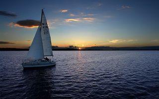 Бесплатные фото парусник,лодка,залив,море,небо,закат,солнце