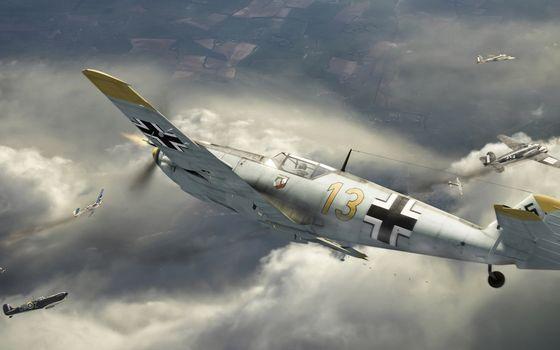 Photo free airplane, bombs, bombing