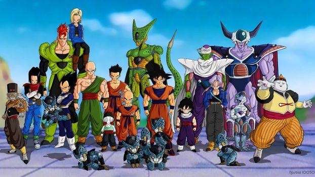Фото бесплатно warrior, dragon ball, fighters, goku, аниме
