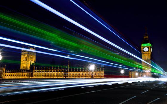 Photo free london, at night, road
