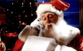 Бесплатные фото дед мороз,читает,списки,заказы,на подарки,новогодние,новый год