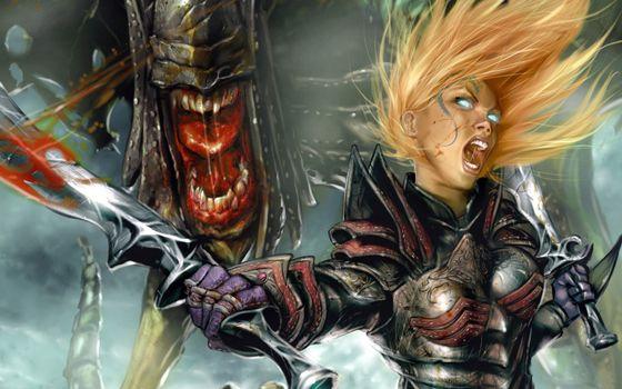 Photo free hair, monster, swords