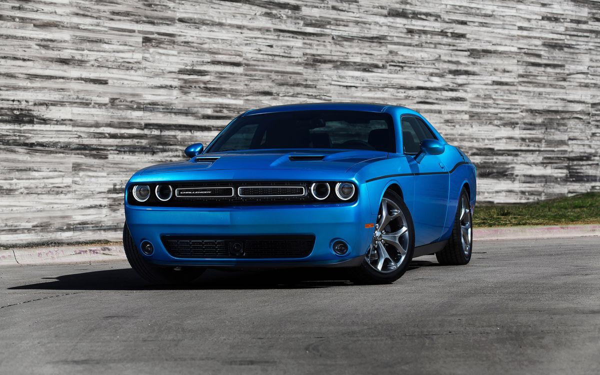 Фото бесплатно dodge, голубой, дорога, машины - на рабочий стол