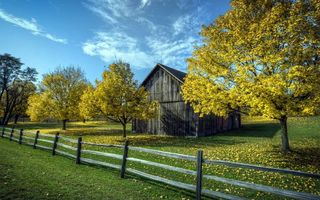 Бесплатные фото дом,сарай,дерево,забор,деревья,листья,трава