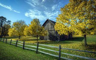 Фото бесплатно дом, сарай, дерево