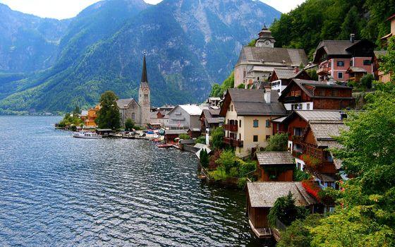 Фото бесплатно дома, вода, озеро