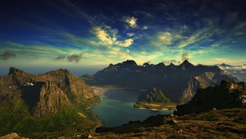 Бесплатные фото горы,скалы,озеро,небо,облака,природа,пейзажи