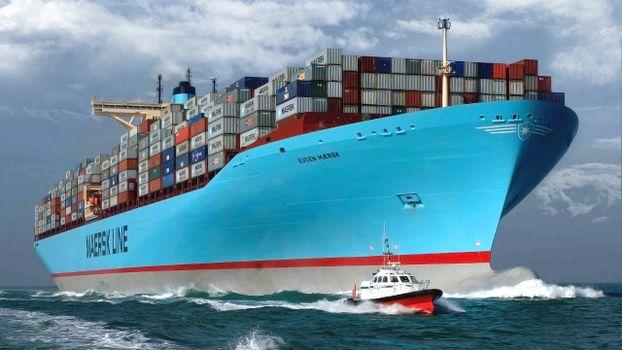 Бесплатные фото корабль,судно,океан,вода,волны,груз,контейнеры,тучи,небо,разное,ситуации