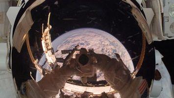 Фото бесплатно космонавт, снимок, шлем