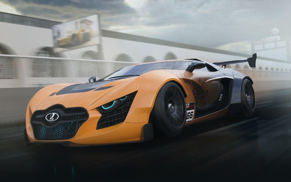 Фото бесплатно лада, концепт, спорткар, спойлер, фары, скорость, машины, машины