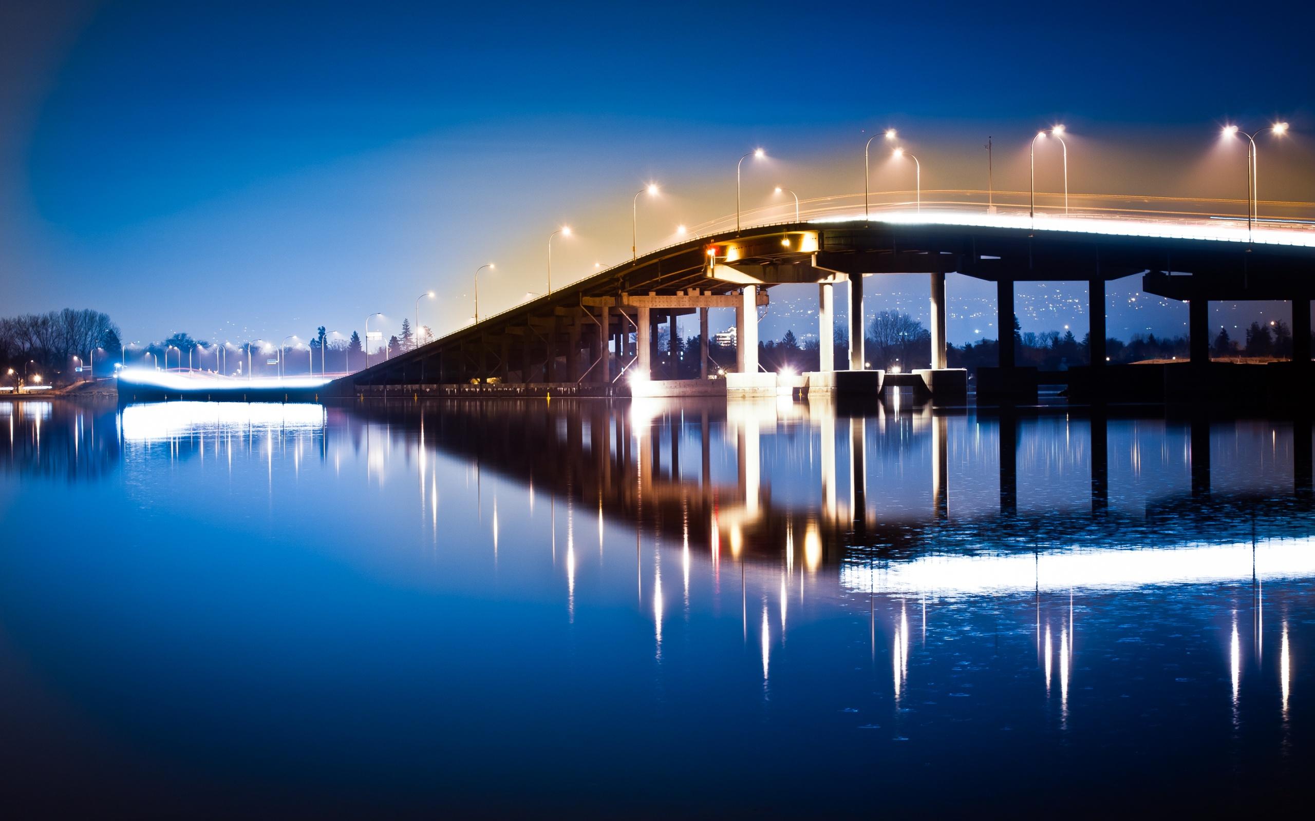 мост, освещение, фонари
