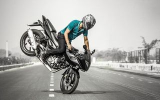 Photo free motorcycle, guy, road