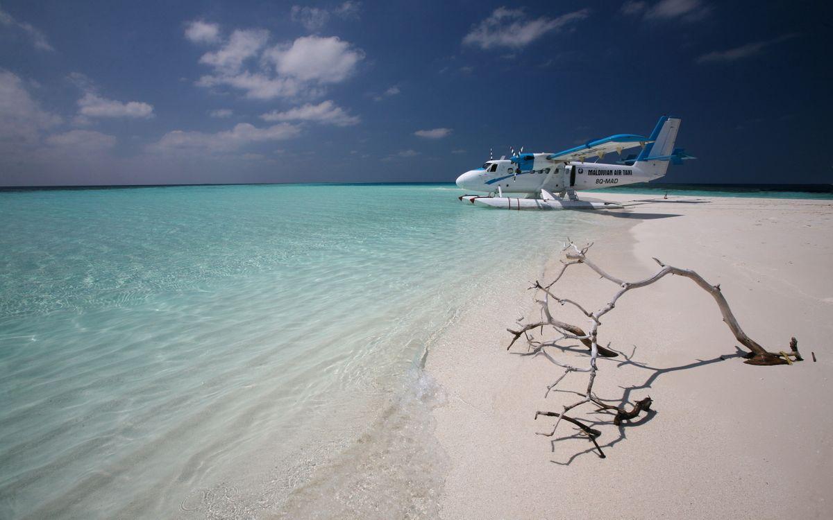 Фото бесплатно самолет, пляж, юг - на рабочий стол