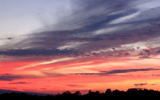 Фото бесплатно закат, небо, красное