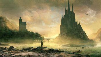 Фото бесплатно замок, небо, облака