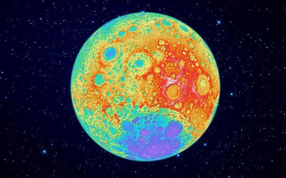 Фото бесплатно луна, обратная, сторона