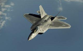 Фото бесплатно f-22-raptor, небо, американец