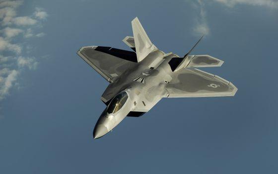 Photo free f-22-raptor, sky, american