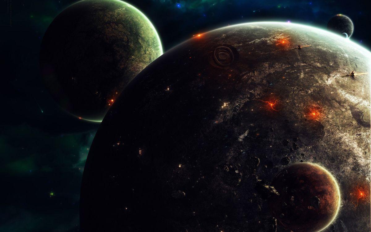 Фото бесплатно планеты, звездная война, война - на рабочий стол