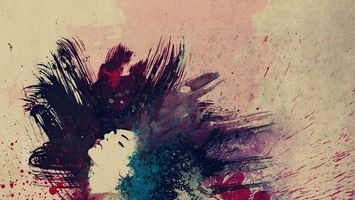 Бесплатные фото краски,девушка,цвета,губы,холст,бежевый,абстракции