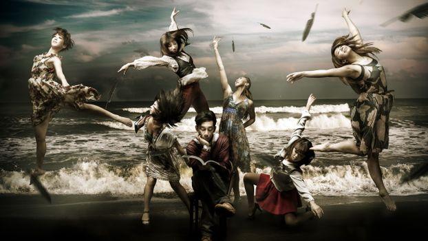 Photo free ballet, sea, waves